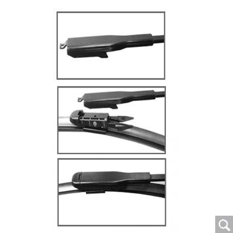 BM5-E60 Windscreen Wiper Blades x 2 Front Set Fits to REG 2003 TO 2009