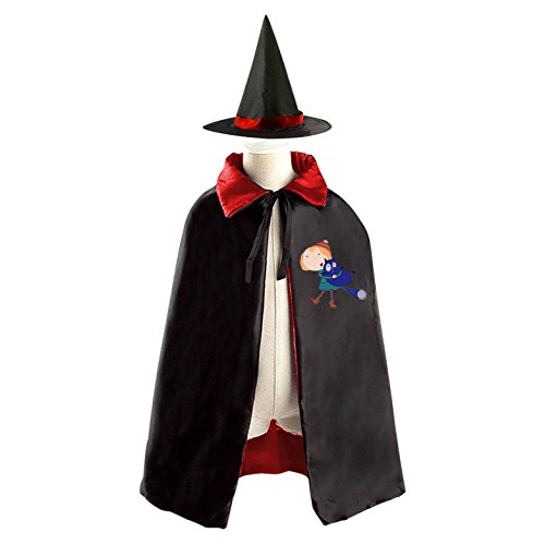 DIY Daniel Tiger's Neighborhood The Fred Rogers Costumes Party Dress Up Cape Reversible with Wizard Witch Hat (Jack Daniels Costume Diy)