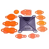 Jaz Products 730-001-01 Small Block Engine Block-Off Kit for Holley Carburetor # 4150