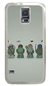 Funny Tmnt Teenage Mutant Ninja Turtles Custom Samsung Galaxy S5 Case and Cover - Polycarbonate - Transparent