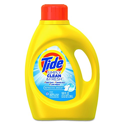 Tide 89129 Simply Clean & Fresh Laundry Detergent, Refreshing Breeze, 100oz Bottle (Case of (Laundry Detergent Case Pack)