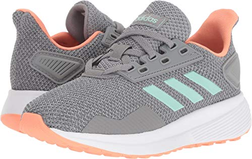 Price comparison product image adidas Performance Unisex-Kids Duramo 9 Running Shoe, Grey Heather/Clear Mint/Granite, 5 M US Big Kid