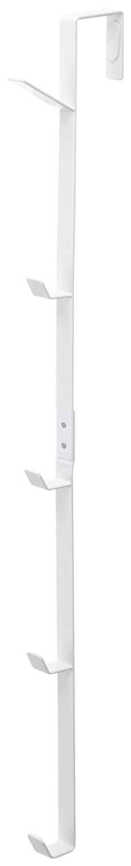 YAMAZAKI home Smart Over The Door Vertical Organizer with 5 Hooks, White 7645