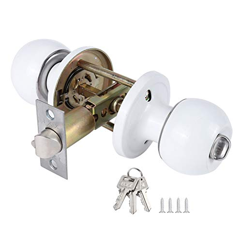 - Colonial Privacy Door Knob, White