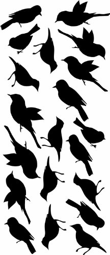 Birds Wall Decal 6ft Tree product image