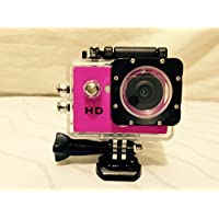 Pink AVI Video Recording HD 720p Action Cam with Built-In 1.5-Inch LCD Screen and Waterproof Case Bonus (Including) Kingston Digital 8GB Micro SDHC Class 10 Card with Adapter