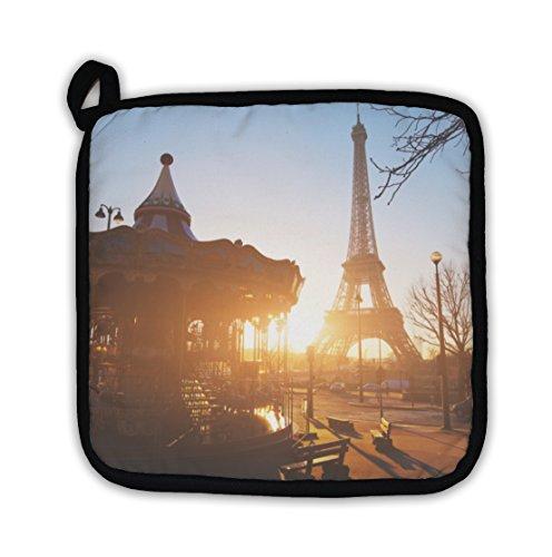 Gear Newgear New Carousel At Eiffel Tower In Paris Pot Holder Dailymail
