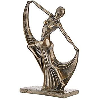 "21/"" Art Deco flapper era Maiden Dancing Stars Illuminated Sculpture"