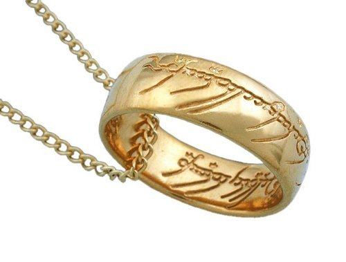 Lord of the Rings Officially Licensed, Frodo's One Ring of Power Pendant (Lord Of The Rings Uruk Hai Theme)