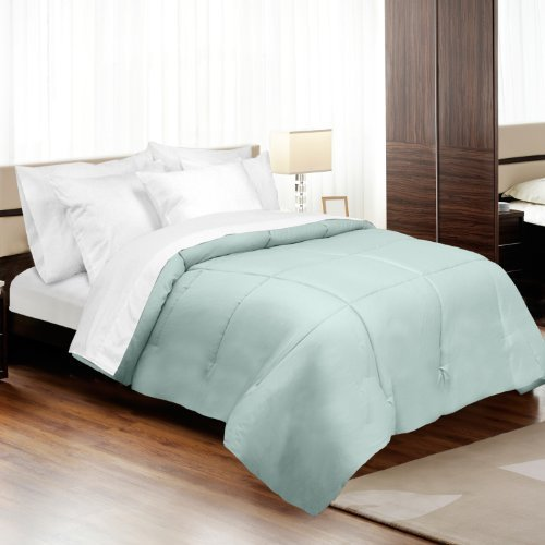 MADE IN THE USA 500TC 100% Cotton Sateen Down Alternative Comforter, King, Blue By Veratex by Veratex