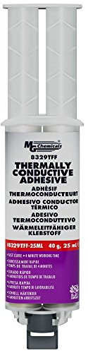 MG Chemicals 8329TFF Thermally Conductive Adhesive - Fast Cure Epoxy, 25 mL Dual Syringe