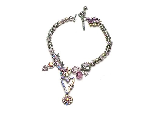 tal Dangling Heart Necklace (Otazu Swarovski Crystal)