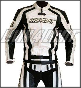 4LIMIT Sports Motorradkombi Laguna Seca Lederkombi Motorrad Jacke + Hose Kombi weiss-schwarz