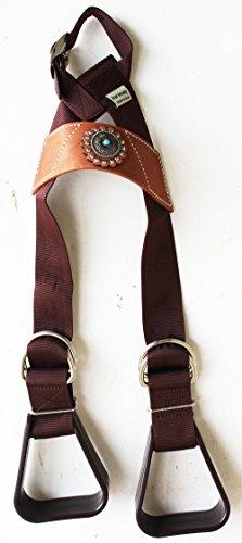 - PRORIDER Western Show Horse Saddle Buddy Stirrups kids Child Youth Pony Turq 5138CO399