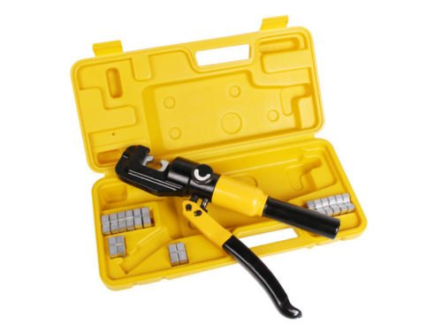 USA Premium Store 10 Ton Hydraulic Wire Battery Cable Lug Terminal Crimper Crimping Tool 9 Dies