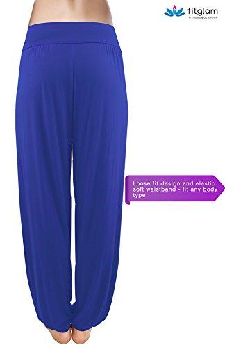 Fitglam Yoga Pilates Soft Harem Pantalones Hippie Bloomer Pant salón de las mujeres de las polainas de los pantalones largos holgados
