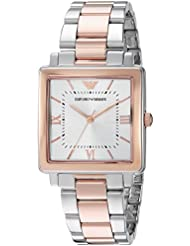 Emporio Armani Womens Dress Quartz Stainless Steel Casual Watch, Color:Silver-Toned (Model: AR11066)