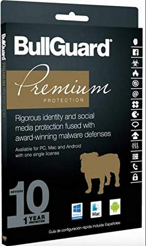BullGuard Premium Protection 2019 - 10 Devices / 1 Year [Key card] by BullGuard