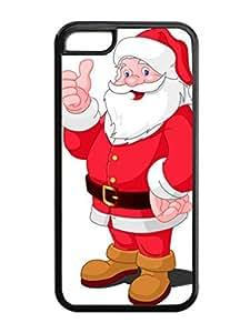 Iphone 5C Case,Thumb Christmas Santa Claus Iphone 5C TPU Silicone Cases