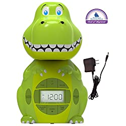 Big Red Rooster BRRC103AC Dinosaur Projection Alarm Clock, Operates On An AC Adaptor (Included) or 3 C Batteries