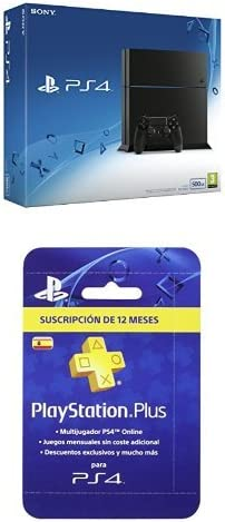 PlayStation 4 (PS4) - Consola 500GB + PlayStation Plus - Tarjeta ...