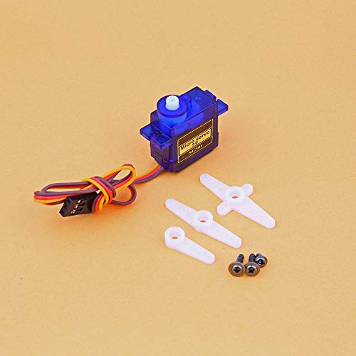 ZYAMY 2PCS SG90 9g Micro Servo with Accessories Mini Digital Smart Electronics Parts Steering Gear Toy Motor for RC Planes Helicopter Quadcopter Airplane