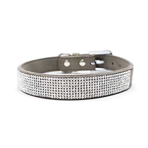 Dogo VIP Bling Dog Collar - Gray/Small by Dogo