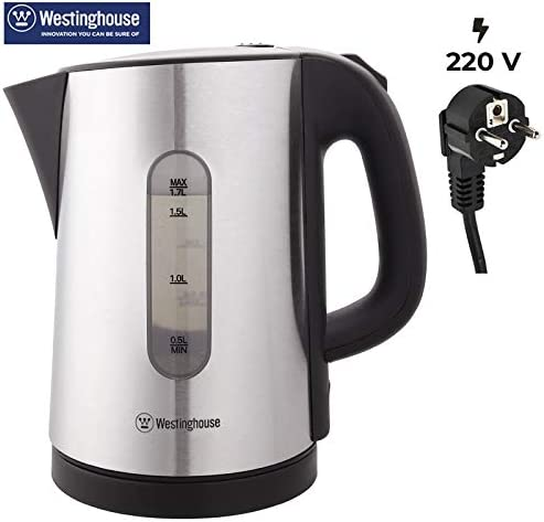 Portable 1.7 Litre Electric Travel Kettle Kitchen Hot Water Cordless Jug 2200W