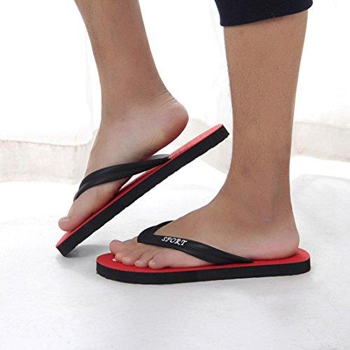 Infradito Mens Estate Infradito Pantofole Sandali Da Spiaggia Al Coperto E Allaperto Per Il Tempo Libero Scarpe Rosse