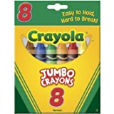 Crayola Jumbo Crayons, Assorted Colors 8 ea ( Pack of 24)