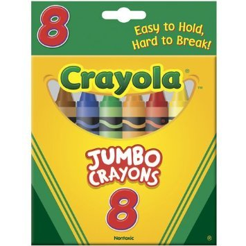 Crayola Jumbo Crayons, Assorted Colors 8 ea ( Pack of 24) by Crayola (Image #1)