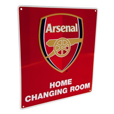 Home Changing Room Metal Sign Arsenal FC