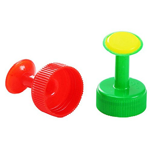 SODIAL(R) Mixed Color 4PCS Gardening Plants Waterer Accessories for Bottle(drink Bottle) Home Mini Sprinkler Sprayer for Plant£¨red blue green mixed£