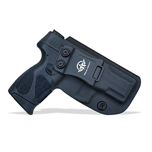 Taurus G2C Holsters IWB Fits: Taurus G2C & Millennium PT111 G2 / PT140 Concealed Holster for Taurus G2C 9mm Gun - Kydex Holster Taurus PT111 G2C Concealed Carry Pistol Case (Black, Right Hand)