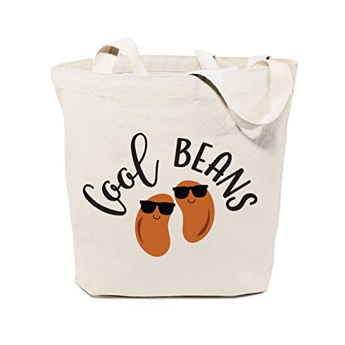 The Cotton & Canvas Co. Cool Beans Reusable Grocery Bag and Farmers Market Tote Bag