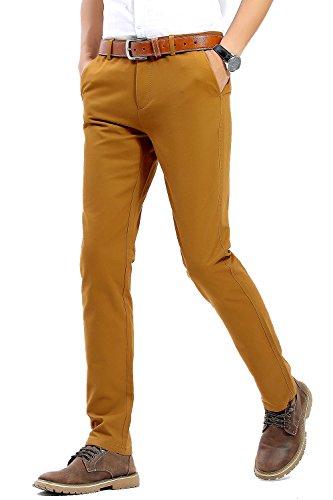 mens 100 cotton dress pants - 5
