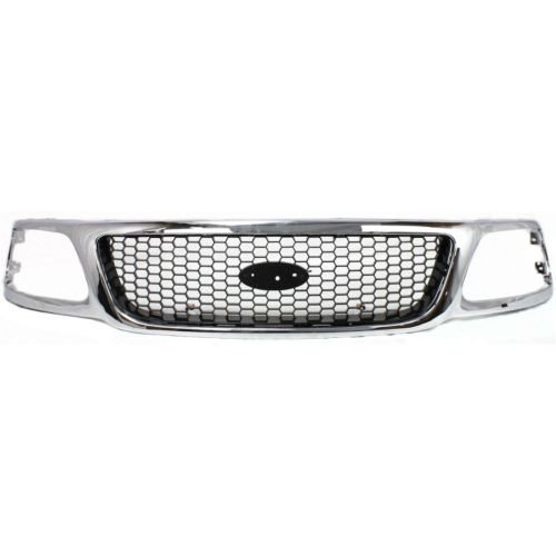 - Perfect Fit Group F070123 - F-150 / F-250 Grille, Honeycomb, Chrome Shell/ Silver Insert, Xl/ Xlt/ Lariat Models, 4Wd