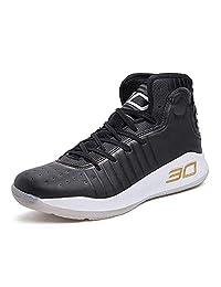 XSGE - Zapatillas de baloncesto para niños con parte superior alta, zapatillas deportivas para niños grandes, niños, adolescentes, niños, profesionales, antideslizantes y duraderas para interiores y exteriores