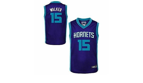 983267438ae Amazon.com   Genuine Stuff Charlotte Hornets Youth NBA Replica Road Jersey  - Purple
