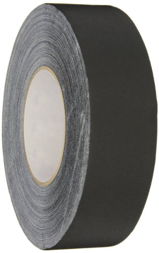510 Vinyl - Polyken 510 Vinyl Coated Cloth Premium Gaffer's Tape, 11.5 mil Thick, 50m Length, 48mm Width, Black