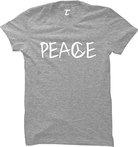 Peace - Freedom Symbol Peaceful Women's T-Shirt (Light Gray, Medium)