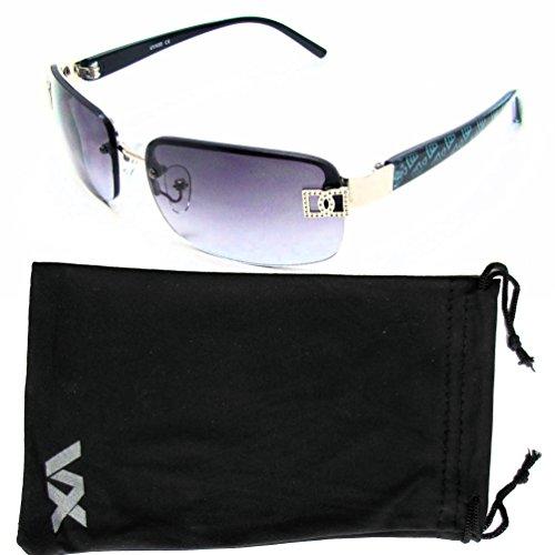 Vox Sunglasses for Women Designer Rimless Rectangular Petite Fashion Eyewear Free Microfiber - Vox Sunglasses