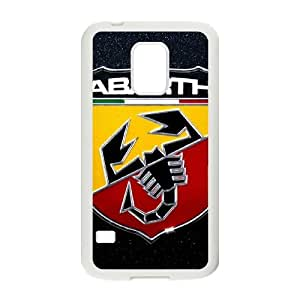 Durable Protector Cases Covers With Abarth Logo Hot Design,TPU Phone case for Samsung Galaxy S5 Mini,white