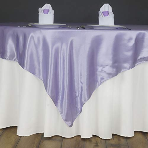 - Mikash 60 Square Satin Table Overlays Wedding Catering Event Dinner Supply Decorations | Model WDDNGDCRTN - 3015 | 15 pcs