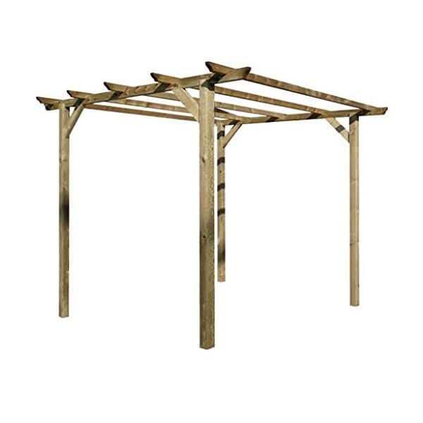 Tavola in legno liscia per PERGOLA gazebo giardino morale RECINZIONE e pergolati TRATTATO 45X90 MM H 100 CM CARTOMATICA… 2 spesavip