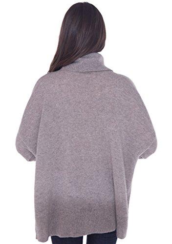 cashmere 4 U 100% Cashmere Turtleneck Oversize Sweater Pullover For Women by cashmere 4 U (Image #5)