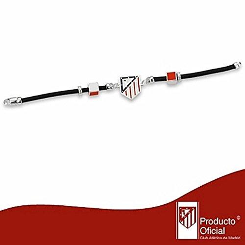 Atletico Madrid bouclier bracelet en caoutchouc droit Argent 20cm. [7057] - Modèle: 20-064
