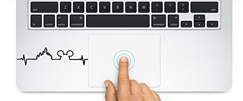 Mickey Mouse heartbeat Decal Sticker for Macbook Laptop Trackpad Keypad