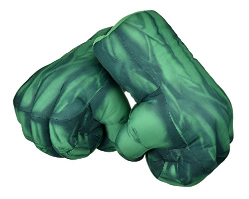 Ace Select Boxing Gloves 1 Pair Fist Gloves 11 inch Soft Plush Gloves for Kids Cosplay Gloves - Green -