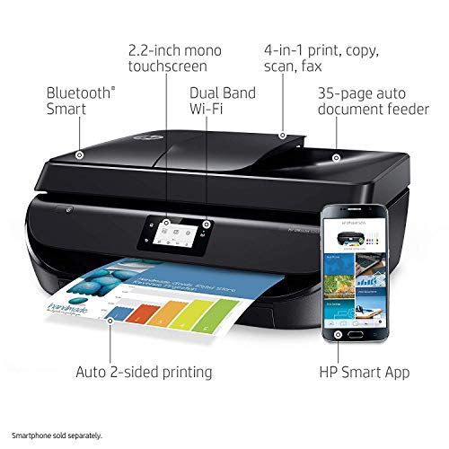 Hp Officejet 5255 Wireless All-In-One Printer, Hp Instant Ink & Amazon Dash Replenishment Ready (M2U75A), Black